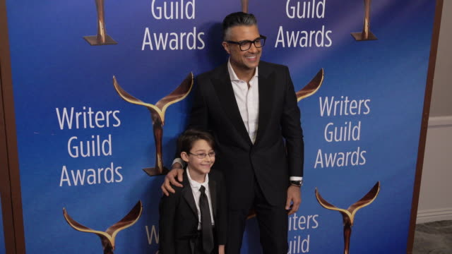 jaime camil at the 2020 writers guild awards at the beverly hilton hotel on february 01, 2020 in beverly hills, california. - the beverly hilton hotel stock videos & royalty-free footage
