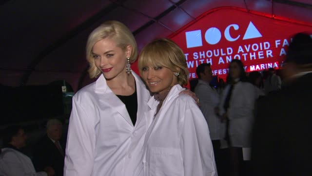 jaime king nicole richie at the the museum of contemporary art los angeles presents the annual moca gala at los angeles ca - los angeles museum of contemporary art stock videos and b-roll footage