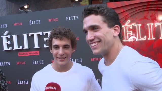 jaime llorente and miguel herrán attend premiere of netflix's elite season 2 - netflix stock videos & royalty-free footage