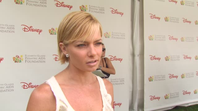 jaime pressly on the importance of the event at the 21st annual 'a time for heroes' celebrity picnic benefit at los angeles ca - a time for heroes stock videos & royalty-free footage