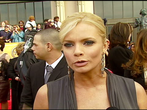 jaime pressly on toughing it out during her pregnancy at the 2007 screen actors guild sag awards at the shrine auditorium in los angeles, california... - shrine auditorium stock videos & royalty-free footage