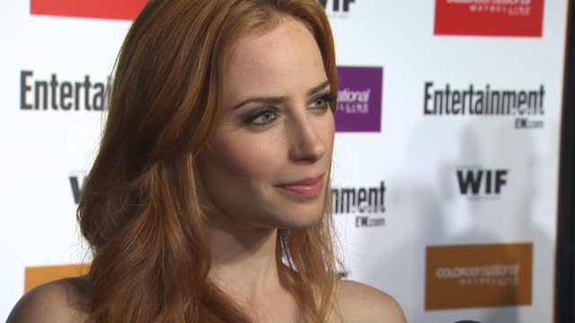 jaime ray newman at the entertainment weekly - women in film pre-emmy party at west hollywood ca. - pre emmy party stock videos & royalty-free footage