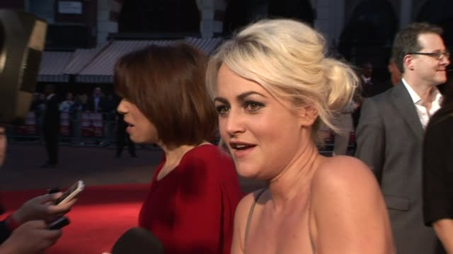 jaime winstone and sally hawkins at the made in dagenham world premiere at london england - sally hawkins stock videos & royalty-free footage