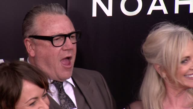 jaime winstone ray winstone and elaine winstone at noah new york premiere arrivals at ziegfeld theater on march 26 2014 in new york city - ray winstone stock videos & royalty-free footage