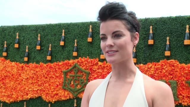 INTERVIEW Jaimie Alexander on attending the event at NinthAnnual Veuve Clicquot Polo Classic at Liberty State Park on June 4 2016 in Jersey City New...