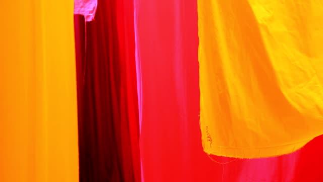 Jaipur India Asia Sari factory male textiles material worker