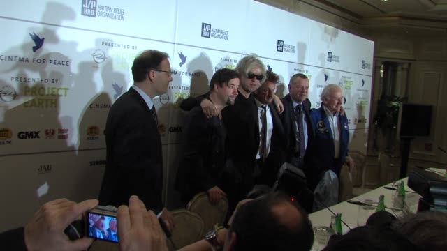 Jaka Bizilj Jan Josef Liefers Bob Geldof Sean Penn Alain Visser Buss Aldrin at the Cinema for Peace Press Conference 61st Berlin International Film...