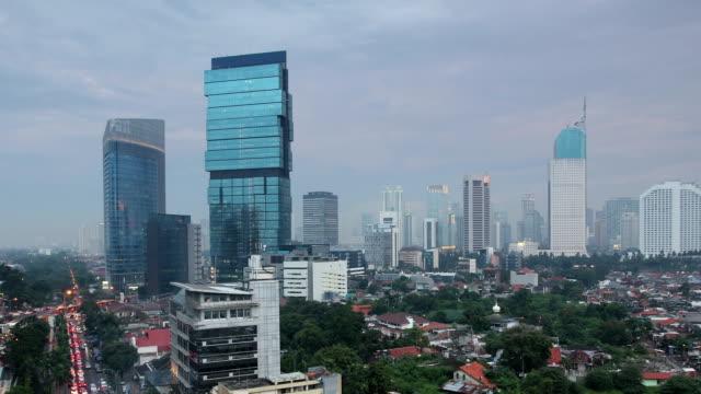 Jakarta City Panorama Time Lapse