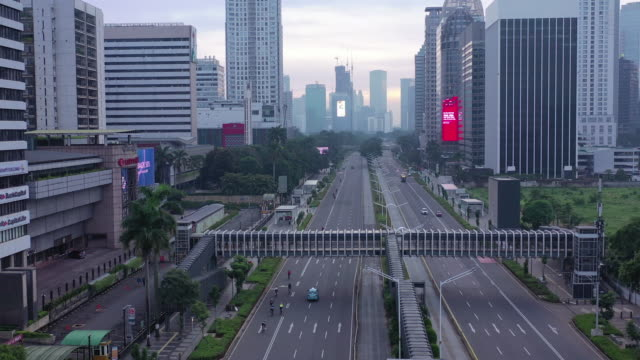 jakarta lockdown psbb situation when covid-19 isolation - asia stock videos & royalty-free footage