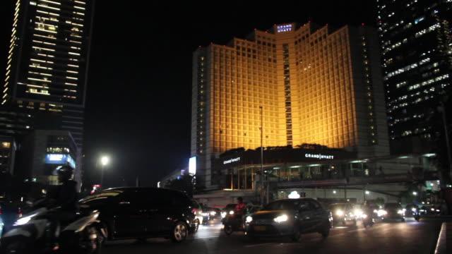 jakarta traffic at night - java stock videos & royalty-free footage