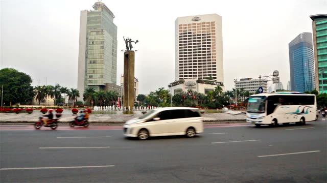 jakarta traffic - java stock videos & royalty-free footage