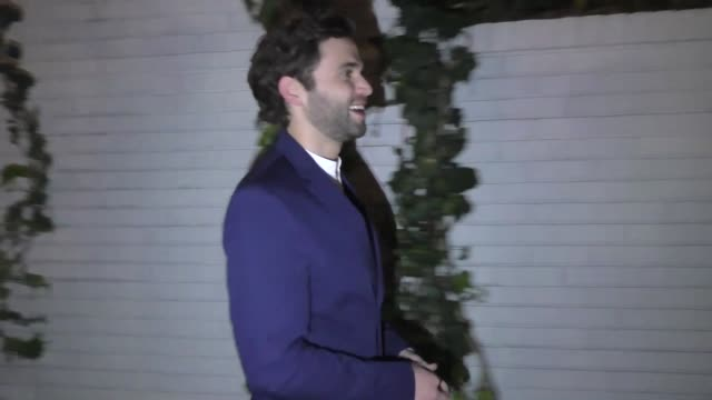 jake borelli outside the entertainment weekly prescreen actors guild awards party at chateau marmont in los angeles at celebrity sightings in los... - entertainment weekly stock videos & royalty-free footage