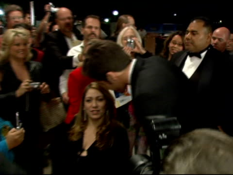 Jake Gyllenhaal and fan at the 2006 Palm Springs International Film Festival Gala at Palm Springs Convention Center in Palm Springs California on...