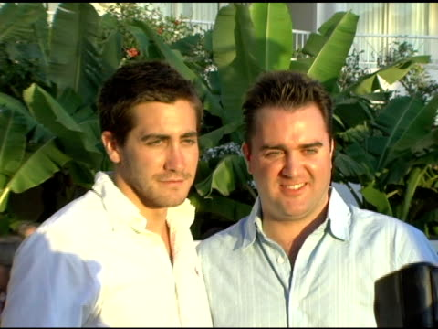 Jake Gyllenhaal and guest at the 2005 Maui Film Festival Opening Night Twilight Reception at the Fairmont Kea Lani Hotel in Maui Hawaii on June 16...