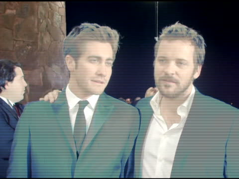 Jake Gyllenhaal and Peter Sarsgaard at the 2006 Palm Springs International Film Festival Gala at Palm Springs Convention Center in Palm Springs...