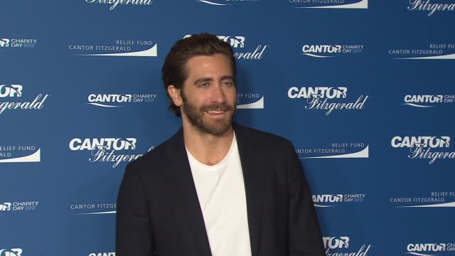 jake gyllenhaal at annual charity day 2017 hosted by cantor fitzgerald bgc and gfi on september 11 2017 in new york city - jake gyllenhaal stock videos & royalty-free footage