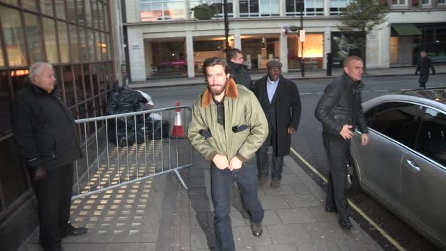 jake gyllenhaal at celebrity video sightings in london jake gyllenhaal at celebrity video sightings in lo at bbc radio on november 30 2012 in london... - jake gyllenhaal stock videos & royalty-free footage