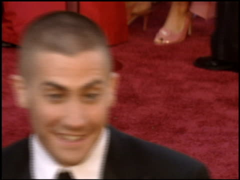 Jake Gyllenhaal at the 2005 Academy Awards at the Kodak Theatre in Hollywood California on February 27 2005