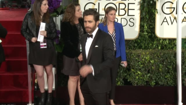 Jake Gyllenhaal at the 72nd Annual Golden Globe Awards Arrivals at The Beverly Hilton Hotel on January 11 2015 in Beverly Hills California