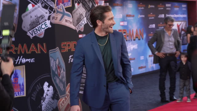 jake gyllenhaal at the world premiere of spiderman far from home on june 26 2019 in hollywood california - jake gyllenhaal stock videos & royalty-free footage