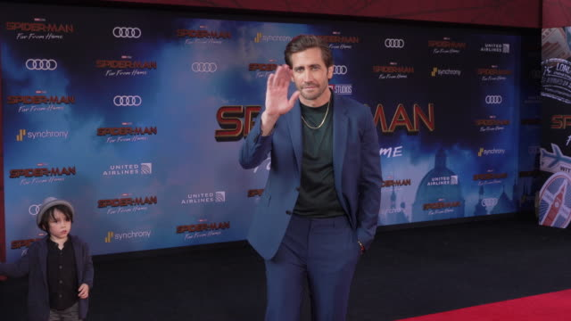 jake gyllenhaal at the world premiere of spiderman far from home on june 26 2019 in hollywood california - gif file format extension stock videos & royalty-free footage