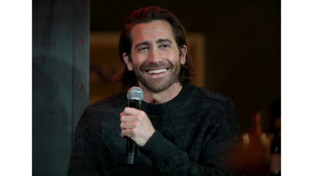 jake gyllenhaal attends a palo alto networks dinner to discuss the role cybersecurity plays in hollywood today at the virgin hotels on february 25... - gif stock videos & royalty-free footage