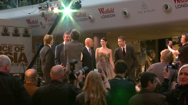 Jake Gyllenhaal Gemma Arterton Ben Kingsley at the Prince of Persia Premiere UK at London England