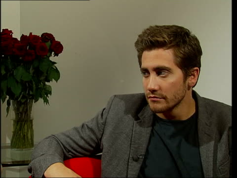 jake gyllenhaal interview; - i feel comfortable taking time off between films/ i always knew that donnie darko would be successful - it had new and... - sam mendes stock videos & royalty-free footage