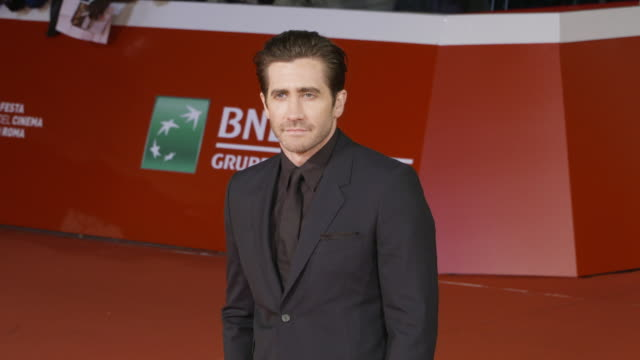clean jake gyllenhaal jeff bauman at stronger red carpet 12th rome film fest on october 28 2017 in rome italy - rome film fest stock videos and b-roll footage