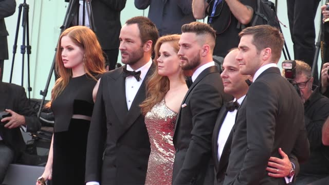 Jake Gyllenhaal legendary designer and director Tom Ford Amy Adams Aaron TaylorJohnson and more on the red carpet for the Premiere of Nocturnal...