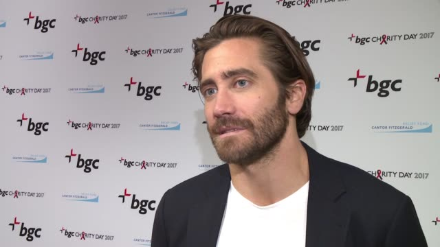 interview – jake gyllenhaal on this day being transformed into a day to do good on getting to a better place through suffering on being a part of a... - jake gyllenhaal stock videos & royalty-free footage