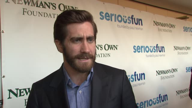 jake gyllenhaal on what tonight is about and how paul newman did not overlook such a simple concept at a celebration of paul newman's dream to... - jake gyllenhaal stock videos & royalty-free footage