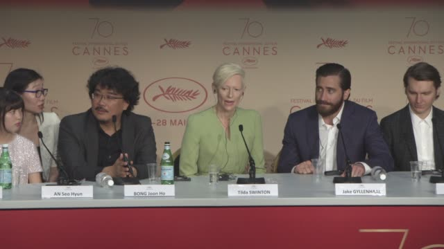 INTERVIEW Jake Gyllenhaal Tilda Swinton Bong Joon Ho on what the film means to him the importance of the film making a statement about the...