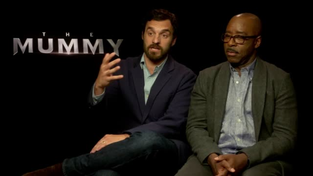 Jake Johnson and Courtney Vance discuss their latest film The Mummy They talk about working with Tom Cruise filming in the desert and performing...