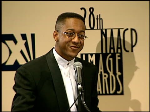 jaleel white at the naacp 28th annual image awards on february 8 1997 - naacp stock videos & royalty-free footage