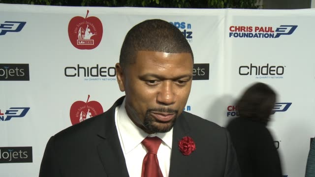 INTERVIEW Jalen Rose on the event at The CP3 Foundation's Celebrity Server Dinner Hosted By Chris Paul in Los Angeles CA