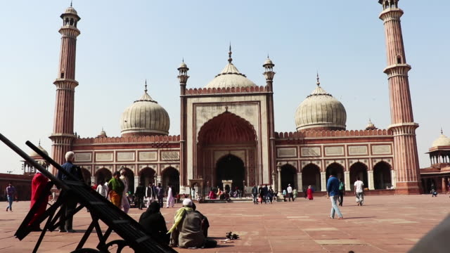 jama masjid temple, india - mughal empire stock videos and b-roll footage