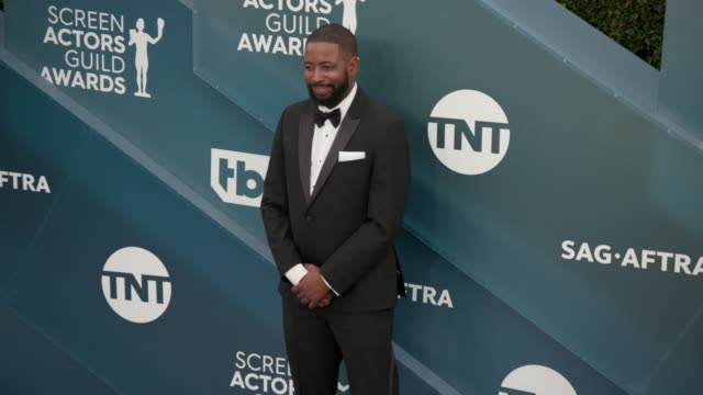 jamaal finkley at the 26th annual screen actors guild awards arrivals at the shrine auditorium on january 19 2020 in los angeles california - shrine auditorium stock videos & royalty-free footage