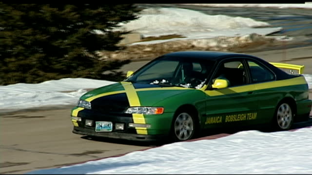 jamaica bobsleigh team train for sochi winter olympics usa wyoming members of 2man jamaica bobsleigh team arrive at training centre in car with... - bobsleighing stock videos & royalty-free footage