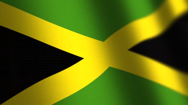 Jamaica flag - loop. 4K.