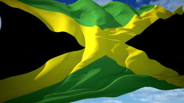 stockvideo's en b-roll-footage met vlag van jamaica - jamaica