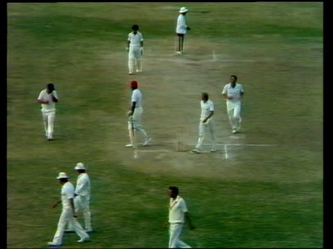 jamaica; jamaica botham sunbathing at pool drinks through straw botham at pool ditto bowler to botham caught bv w.indian at wicket botham takes his... - west indies stock videos & royalty-free footage
