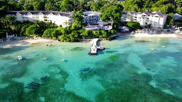 jamaican beach resort - jamaica stock videos and b-roll footage