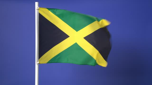 Jamaican flag on green screen