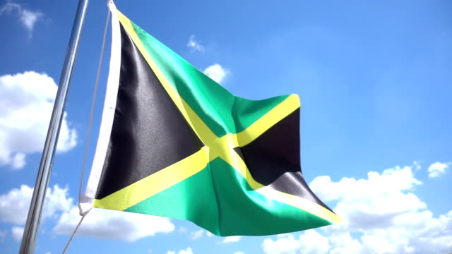 jamaican flag - jamaica stock videos and b-roll footage