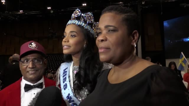 "jamaican model who was crowned miss world on saturday has said her new platform is about ""more than beauty"". toni-ann singh said the charity work... - miss world pageant stock videos & royalty-free footage"