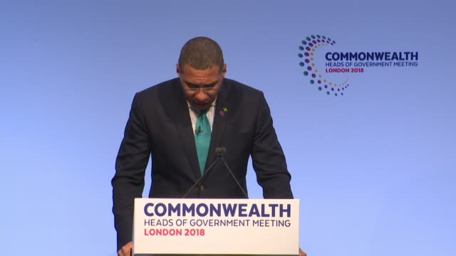 jamaican prime minister andrew holness saying he welcomes theresa may's response to the windrush controversy and that he hopes to see a speedy... - hmt empire windrush stock videos & royalty-free footage