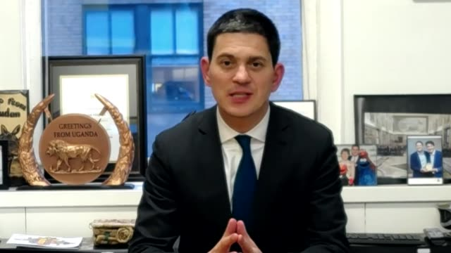 Western relations with Saudi Arabia worsen as US calls for ceasefire in Yemen USA New York New York City INT David Miliband interview via internet SOT