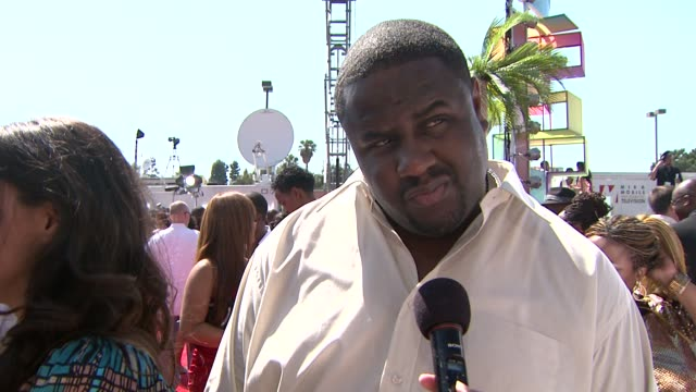 jamal woolard on being nominated for a bet award on the energy on the red carpet on what he's looking forward to on the loss of michael jackson and... - biggie smalls stock videos and b-roll footage