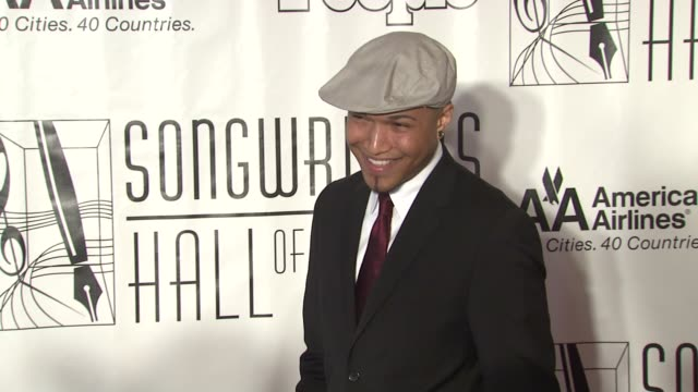 jamar rogers at the songwriters hall of fame 2010 annual awards gala at new york ny - hall of fame stock videos and b-roll footage